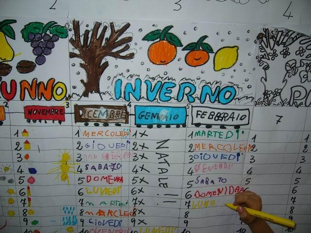 Calendario Bambini Scuola Infanzia.Il Tempo Scorre
